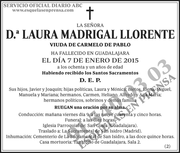 Laura Madrigal Llorente